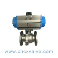 2PC Ball Valve Flanged Extremo With Direct Mounting Pad con Pneumatic Actuator